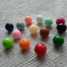 Acrylic ~  10mm Round Assorted Colours