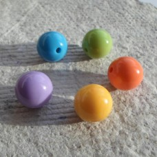 Acrylic ~ 14mm Round in Assorted Colours