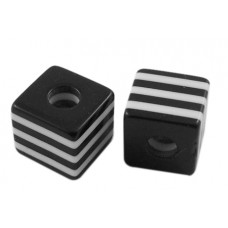 Acrylic ~ Cube in Black and white