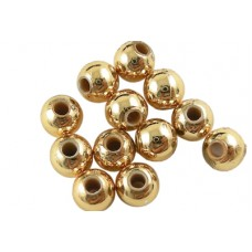 Acrylic ~ 12mm Round Gold Beads