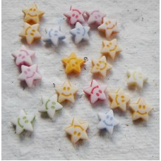 Acrylic ~ Tiny Stars with smiley faces