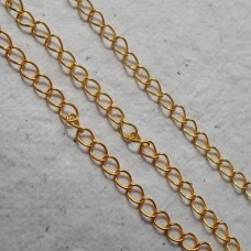 Continuous Chain ~ Gold plate Curb