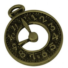 Antique Bronze Charm ~ Clock Face
