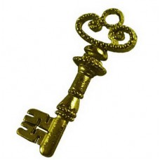 Antique Bronze Charm ~  Fancy Key