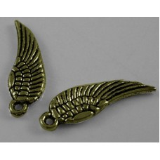 Antique Bronze Charm ~ Angel Wings