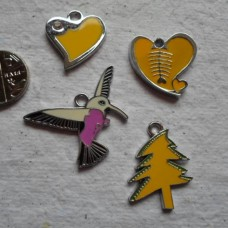 Enamelled Charms ~ 4 Assorted