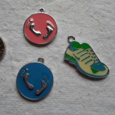 Enamelled Charms ~ 3 Assorted