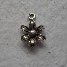 Antique Silver Charms ~ Flower