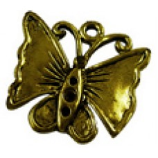 Antique Bronze Charm ~ Butterfly