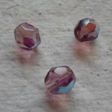 Czech Glass ~ Faceted AB Amethyst