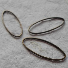 Antique Bronze Coloured Hoop