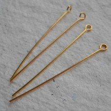 Gold Plated Eye Pin