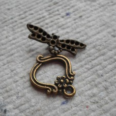 Antique Bronze ~ Dragonfly Toggles