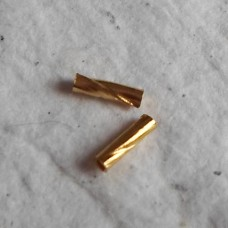 Gold Plate Tiny Ribbed Tubes