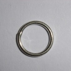 Silver Plated Soldered Jump Rings x 20