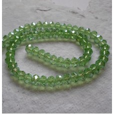 Glass beads ~ Round Lime