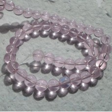 Glass beads ~ Round Pale Pink