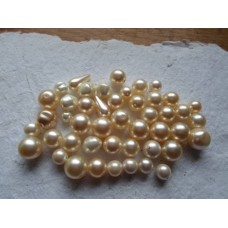 Glass Pearls ~ Assorted Champagne and Cream