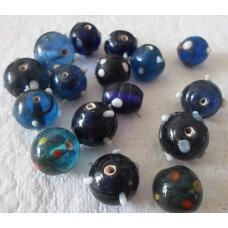Indian Beads ~  16 Pack of Blue