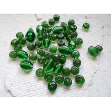 Emerald Green Assorted Glass Beads