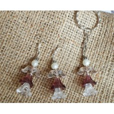 Angel Keyrings and Earrings sets ~  Various Colours