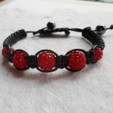 Bracelet ~ Shamballa with 5 Disco Beads