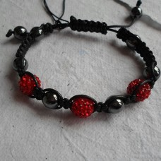 Bracelet ~ Shamballa with 3 Disco Beads