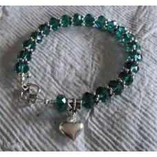 Bracelet ~ Faceted with Heart