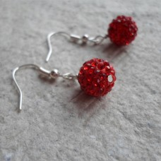 Earrings ~  Shamballa in various colours