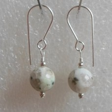 Earrings ~  8mm Semi precious Stones and Sterling fittings