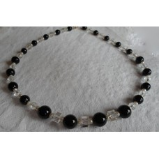 Necklace ~  Black Onyx and Pearls