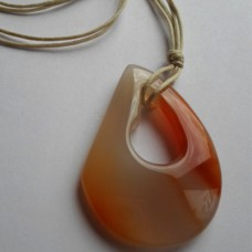 Necklace ~  Banded CarnelianTear Drop