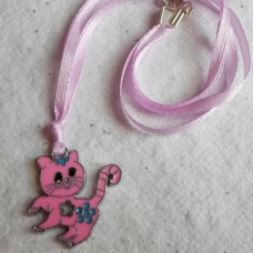 Necklace ~  Enamelled Cat Pendents
