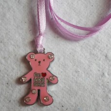 Necklace ~  Enamelled Teddy Pendents