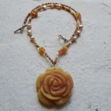 Necklace ~  Rose Pendant