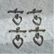 Heart Toggle Clasp