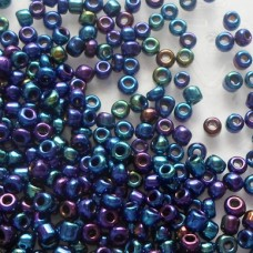 Seed Beads ~  Iridescent ~ Peacock