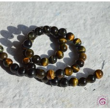 Blue Tigers Eye Round Beads