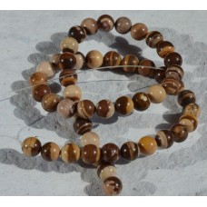 Brown Zebra Jasper  Round Beads