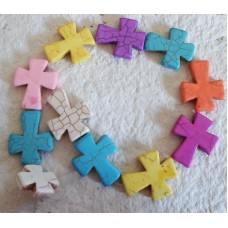 Howlite Large Crosses