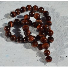 Red Tigers Eye Round Beads