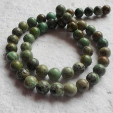 African Turquoise Round Beads