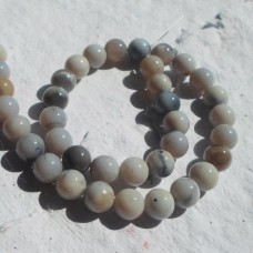Grey Agate Round Beads