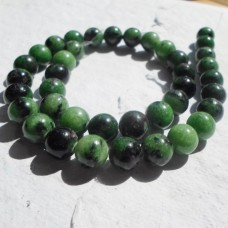 Ruby in Zoisite Round Beads