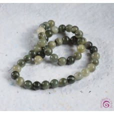 Green Rutilated Aventurine Round Beads