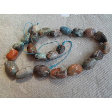 Crazy Lace Agate Nugget  Beads in Blues