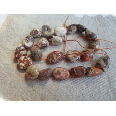 Crazy Lace Agate Nugget  Beads in Browns