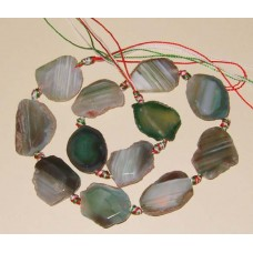 Green Agate slices