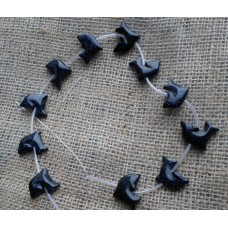 Blue Goldstone Dolphin Beads
