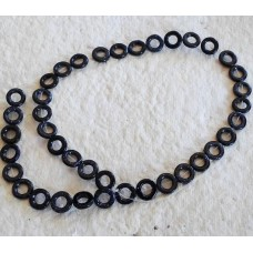 Blue Goldstone donut Beads